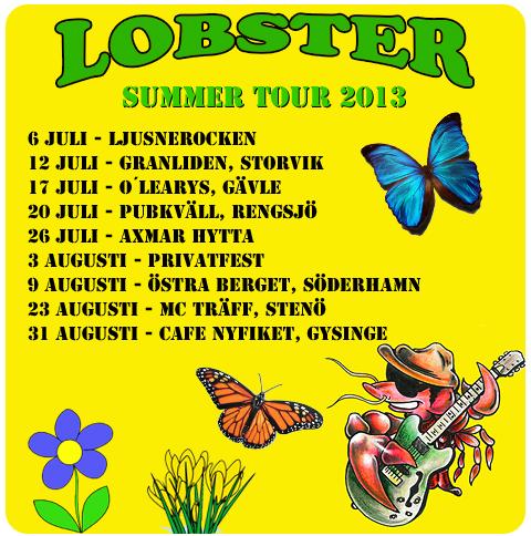 Lobster sommarspelningar 2013